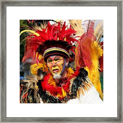 Exotic Painted Face Framed Print