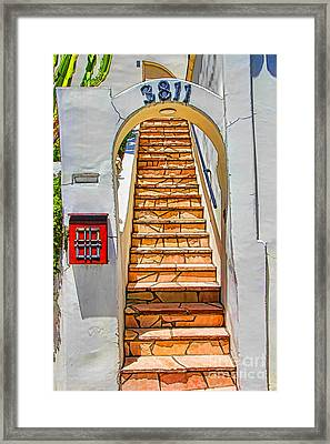 Exotic Stairs Framed Print by Mariola Bitner