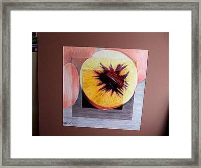 Expanding Peach Framed Print by Ali Dover