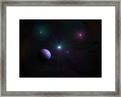 Expanding Universe Framed Print by Ricky Haug