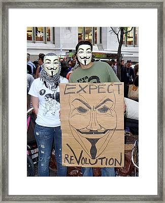 Framed Print featuring the photograph Expect Revolution by Ed Weidman