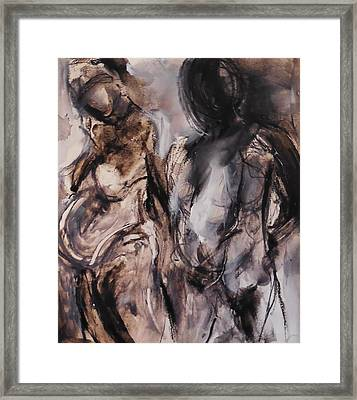 Expectant Couple Framed Print by Made by Marley