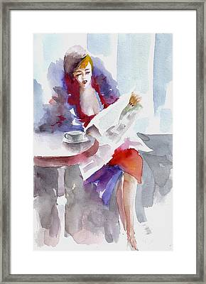 Framed Print featuring the painting Expectation.. by Faruk Koksal