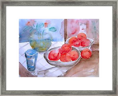Framed Print featuring the painting Expectation by Jasna Dragun