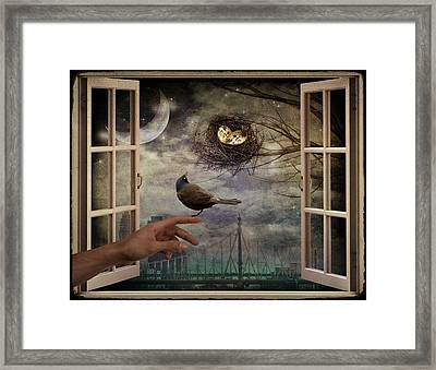 Expecting... Framed Print by Marie  Gale