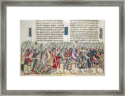 Expedition Of Xerxes Framed Print by British Library