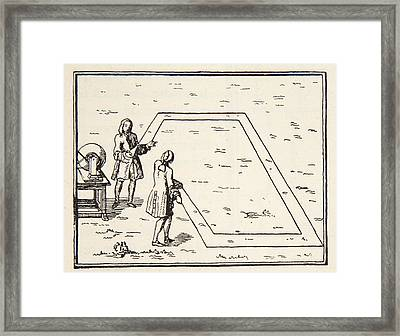 Experience De Le Monnier Sur Lat Framed Print by French School