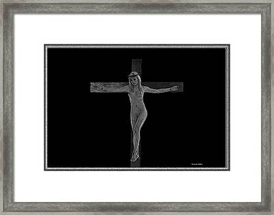 Experimental Crucifix Framed Print