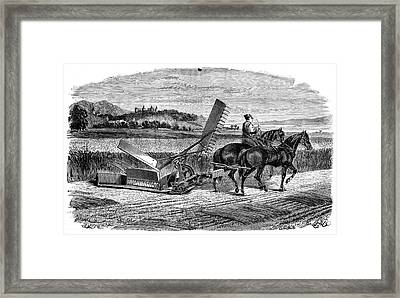 Experimental Harvester Framed Print by Science Photo Library