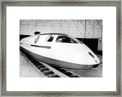 Experimental High Speed Train Framed Print