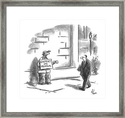 Expert On Russia Framed Print by Frank Cotham