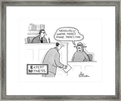 'expert Witness' Framed Print by Leo Cullum