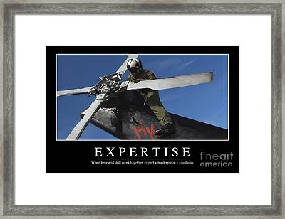 Expertise Inspirational Quote Framed Print by Stocktrek Images