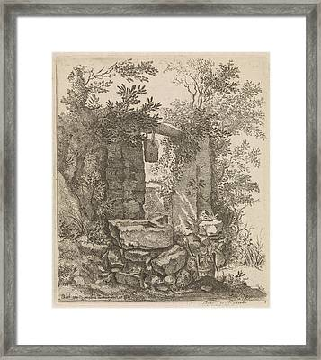 Expired Stone Gate In A Landscape, Jacob Lutma Framed Print