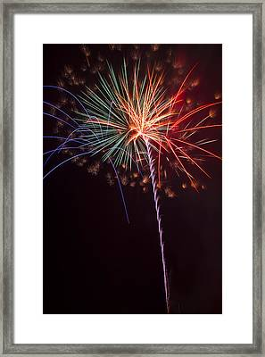 Exploding Colors Framed Print