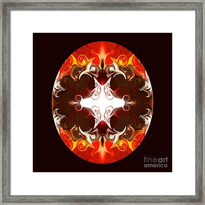 Exploding Consciousness Abstract Mandala Artwork By Omaste Witkowski Framed Print by Omaste Witkowski