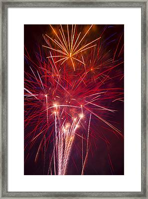 Exploding Fireworks Framed Print by Garry Gay