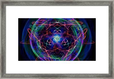 Exploding Gaseous Globes Framed Print