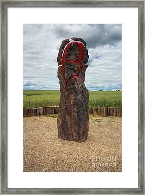 Exploding Menhir Framed Print by Michal Boubin