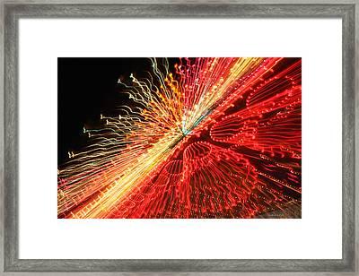 Exploding Neon Framed Print