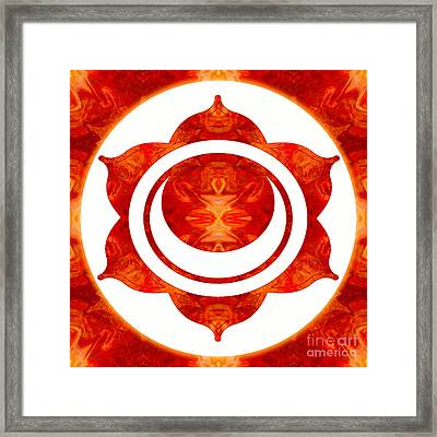Exploding Sensuality Abstract Chakra Art By Omaste Witkowski Framed Print by Omaste Witkowski