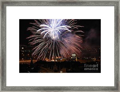 Exploding Stars Framed Print by Syed Aqueel