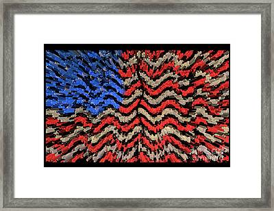 Exploding With Patriotism Framed Print by John Farnan