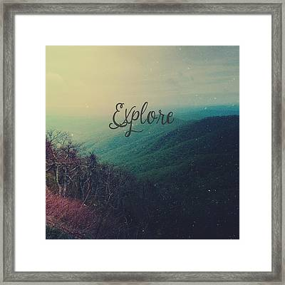 Explore Framed Print by Olivia StClaire