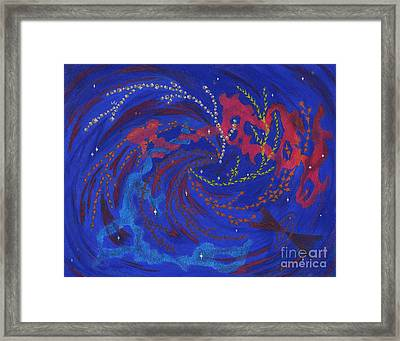 Explore Strange New Galaxies Framed Print