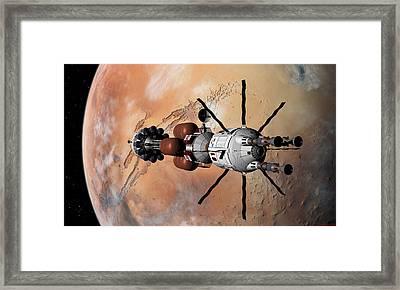Explorer At Mars Part 1 Framed Print by David Robinson