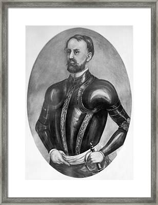 Explorer Hernando De Soto Framed Print by Underwood Archives