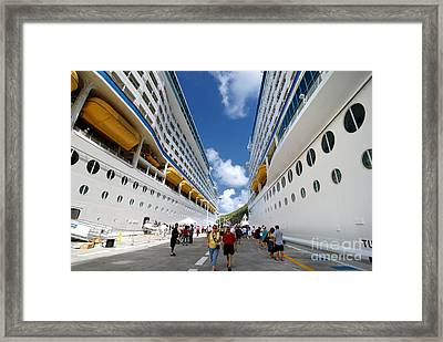 Explorer Of The Seas And Adventure Of The Seas Framed Print