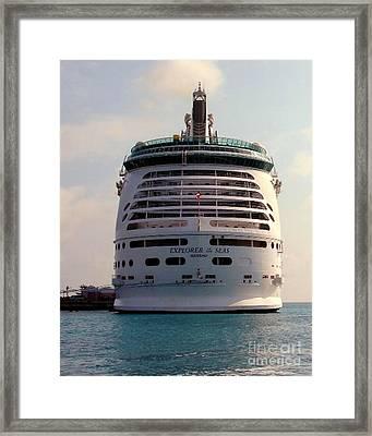 Explorer Of The Seas Framed Print