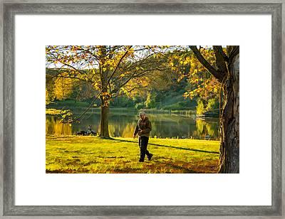 Exploring Autumn Light Framed Print by Steve Harrington