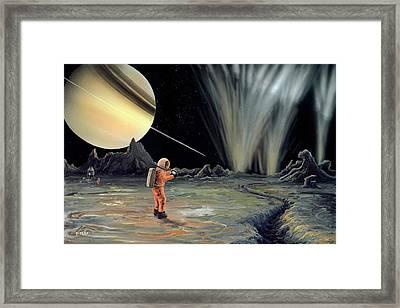 Exploring Enceladus Framed Print by Richard Bizley