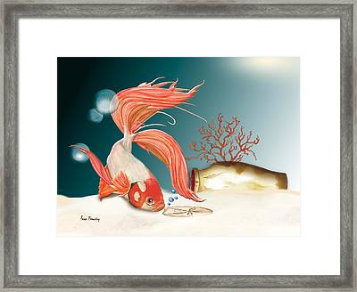 Exploring The Deep Framed Print by Anne Beverley-Stamps