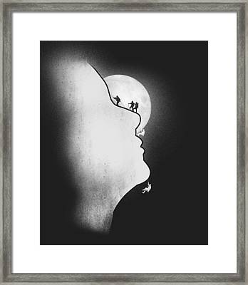 Exploring The Profile Framed Print