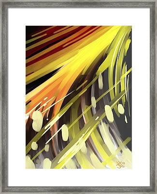 Explosion 1 Framed Print by Jennifer Hotai
