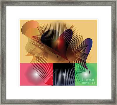 Framed Print featuring the digital art Explosion 2 by Iris Gelbart