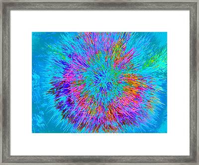 Explosion 5 Framed Print by Nico Bielow
