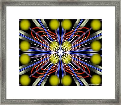 Framed Print featuring the digital art Explosion by Brian Johnson