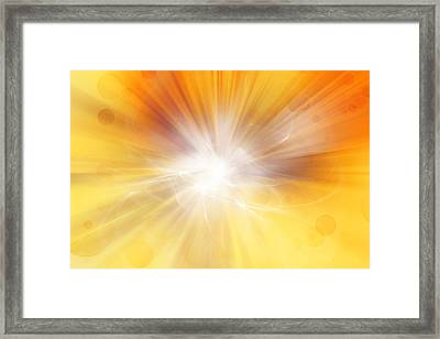 Explosion  Framed Print by Les Cunliffe