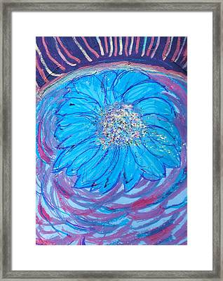 Explosion Of Color Framed Print by Anne-Elizabeth Whiteway
