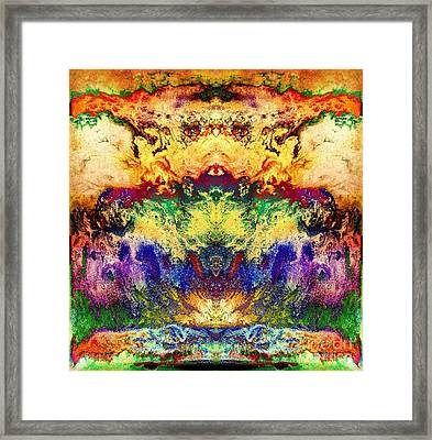 Explosion Of Color Framed Print by Patty Vicknair