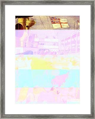 Explosion On Hms Royal Sovereign Framed Print