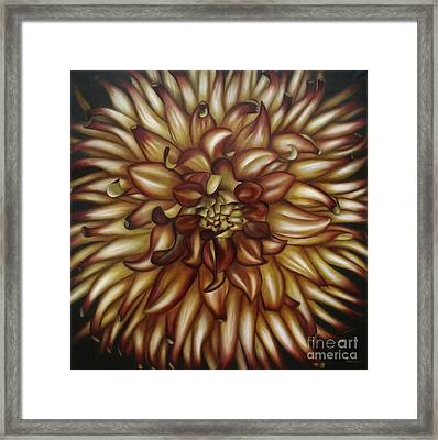 Framed Print featuring the painting Explosion by Paula L