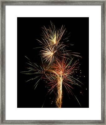 Explosion Framed Print by Shirley Tinkham