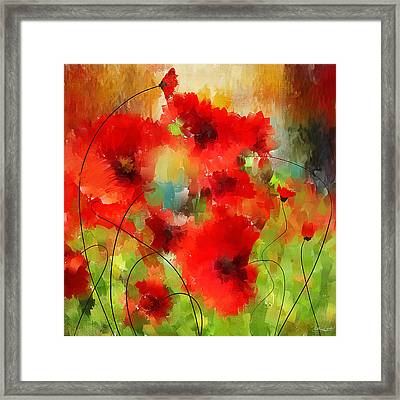 Explosions Galore Framed Print