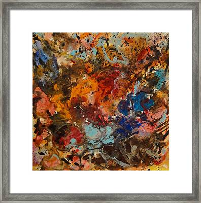 Explosive Chaos Framed Print by Natalie Holland