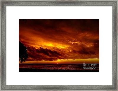 Explosive Morning Framed Print